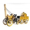 1829 Yellow Stephenson Rocket Steam Locomotive 金屬蒸汽車頭