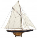 美國盃 哥倫比亞號 1901 -小- 法式拋光 (  America's Cup Columbia 1901, Small, French Finish)